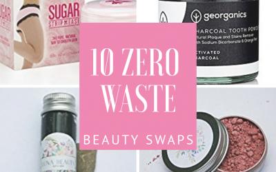 10 Zero Waste / Plastic Free Beauty Swaps