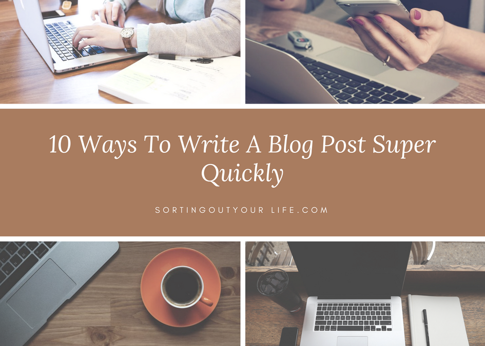Top Tips To Blog More Quickly